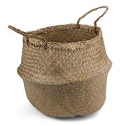 Papaya - Amara Seagrass Basket Natural Medium
