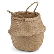 Papaya - Amara Seagrass Basket Natural Small