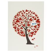 Forever - Red Heart Tree Card