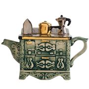 The Teapottery - French Stove Green Medium Teapot