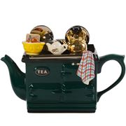 The Teapottery - Breakfast Aga Green Large Teapot