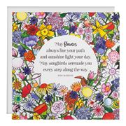 Affirmations - May Flowers Always Line Card