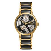 Rado - Centrix Open Heart Black & Gold Watch 38mm