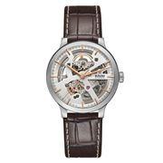 Rado - Centrix Open Heart Steel Brown Strap Watch 38mm