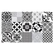 Beija Flor - Eclectic Black & White Vinyl Mat 60x97cm