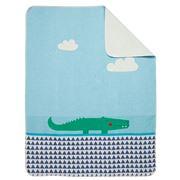 David Fussenegger - Jade Crocodile Juwel Bassinet Blanket