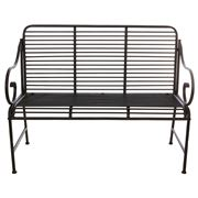 Raz - Black & White Cottage Antiqued Bench