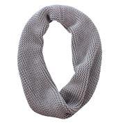 DLUX - Hudson Knit Cotton Infinity Scarf Silver