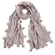DLUX - Flynn Woolmark Knit Pom Pom Wrap Taupe