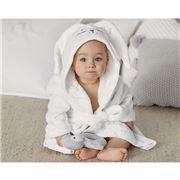 Sheridan - Baby White Bunnie Hooded Bathrobe Size 3