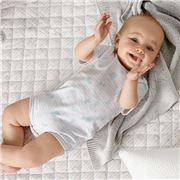 Sheridan - Baby Kelton Grey Quilted Blanket