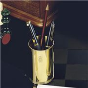 El Casco - 23 kt Gold Plated Small Pencil Pot