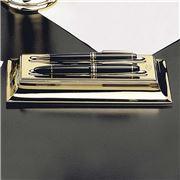 El Casco - Double Pen Holder Gold