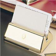 El Casco - 23K Gold Plated Business Card Holder