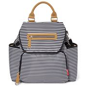 SkipHop - Grand Central Take-It-All Backpack Black Stripe