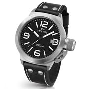 TW Steel - Canteen Leather CS1 45mm Black Dial Black Strap