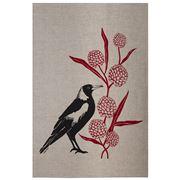 Eastbourne Art - Magpie Flowers Tea Towel