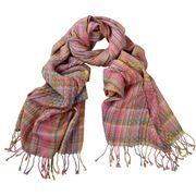 DLUX - Oxana Woven Multi Yarns Woolmark Wrap Pink