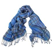 DLUX - Oxana Woven Multi Yarns Blue Wrap