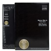 Profile - Memo Slip-In Large Black Photo Album