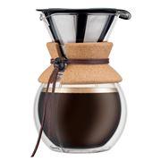 Bodum - Pour Over Double Wall Cork Grip Coffee Maker 1L