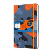 Moleskine - Blend Large Ruled Notebook Camouflage Orange