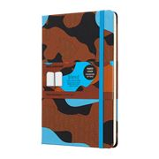 Moleskine - Blend Large Ruled Notebook Camouflage Blue