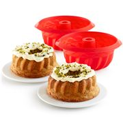 Lekue - Mini Red Savarin Set 2pce