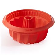Lekue - Red Deep Savarin Mould 22cm
