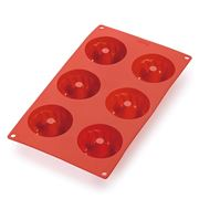 Lekue - Mini Savarin 6 Cup Mould Red