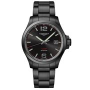 Longines - Conquest V.H.P. Black Dial & Strap Watch 43mm
