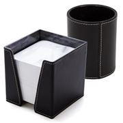 Midipy - Pencil Box and Leather Cube Black