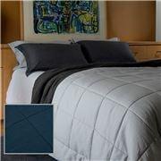 Bemboka - Ink Pure Linen King/Queen Cotton Quilt Set 3pce
