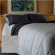 Bemboka - Tea Pure Linen King Single Cotton Quilt Set 3pce