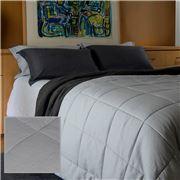 Bemboka - Dove Pure Linen King Single Cotton Quilt Set 3pce