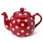 London Pottery - Farmhouse Filter Teapot 4 Cup Red/Wht Spots