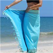 Simone et Georges - Sarong Kikoy Beach Towel Blue Lagoon