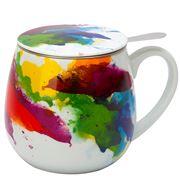 Konitz - On Colour Flow Mug with Strainer & Lid