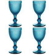 Vista Alegre - Bicos Azul Red Wine Goblet Set 4pce