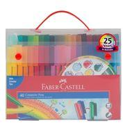 Faber-Castell - Connector Pen Set Case & Colour Wheel 40pce