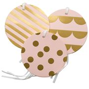 Vandoros - Cameo Pink/Gold Party Gift Tag Set 6pce