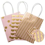 Vandoros - Cameo Pink/Gold Party Bag & Tag Set 3pce