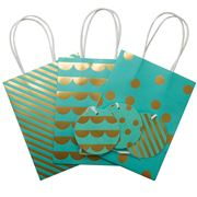 Vandoros - Turquoise/Gold Party Bag & Tag Set 3pce