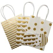 Vandoros - Quartz/Gold Party Bag & Tag Set 3pce
