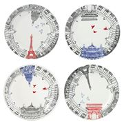 Gien - This is Paris Dessert Plate Set 4pce