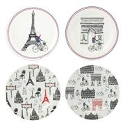 Gien - This is Paris Canape Plate Set 4pce