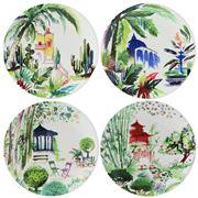 Gien - Jardins Extraordinaires Canape Plate Set 4pce