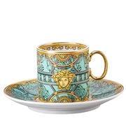 Rosenthal - Versace La Scala Pal Verde Espresso Cup & Saucer