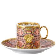 Rosenthal - Versace La Scala Pal. Rosa Espresso Cup & Saucer