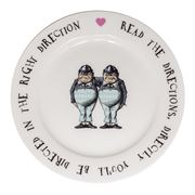 Mrs Moore - Alice In Wonderland Tweedles Tea Plate